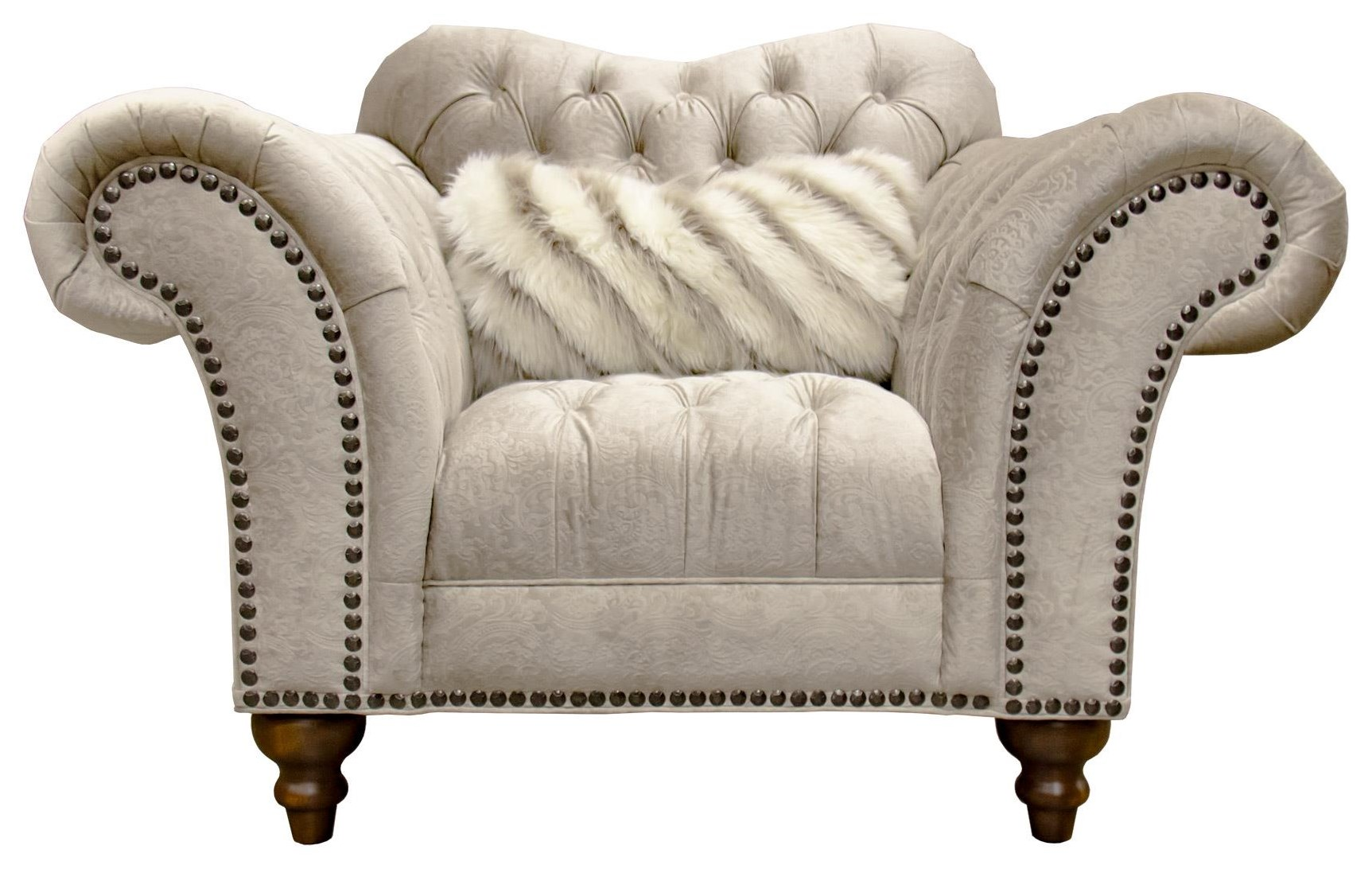 Sand Paisley Tufted Chair