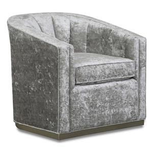 Aria Designs Upholstery Alyssa Swivel Accent Chair