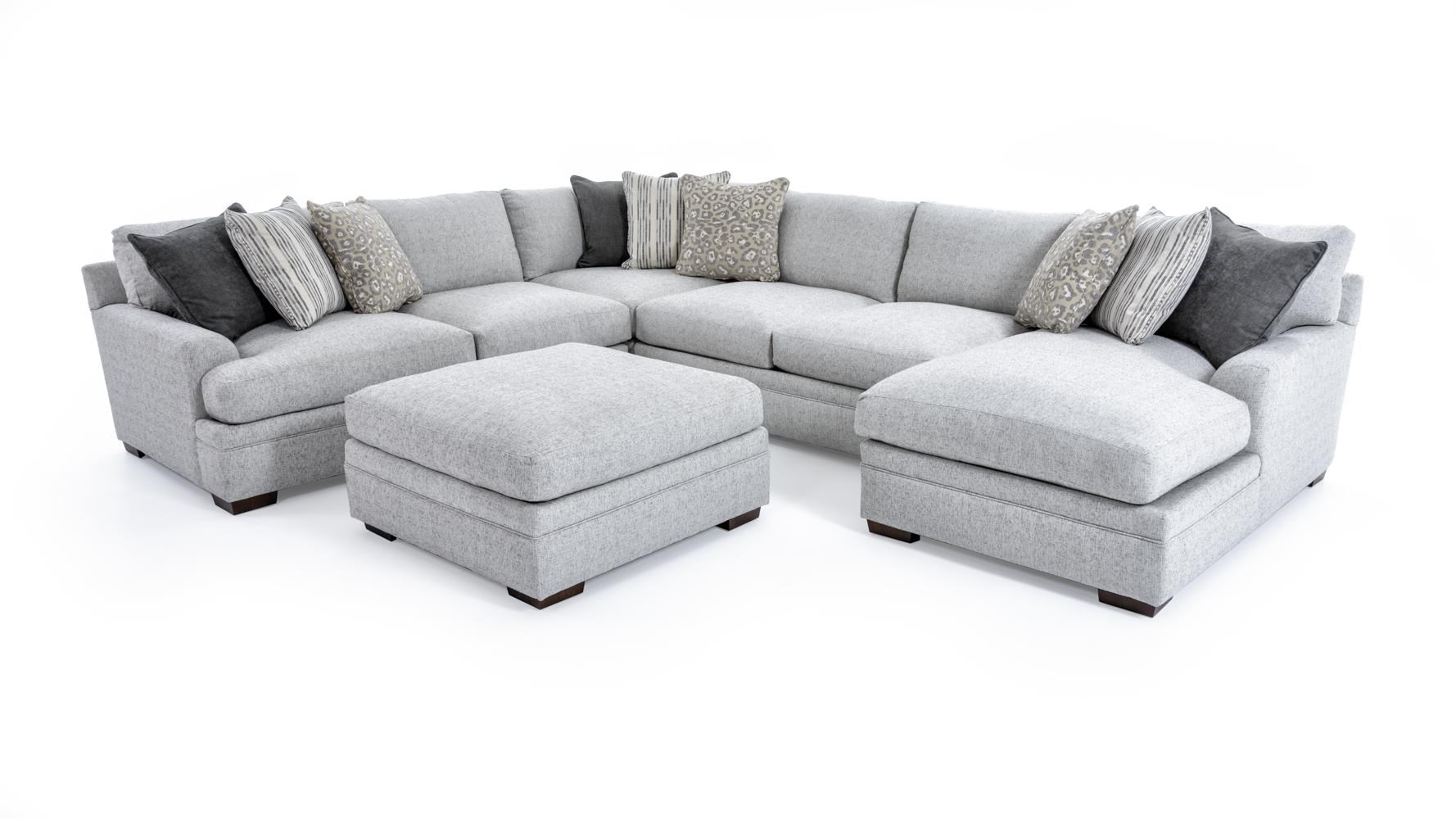 Furniture stores in miami florida - Casual Five Piece Sectional Sofa With Ottoman