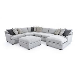 Aria Designs Vance 5 Pc Sectional Sofa