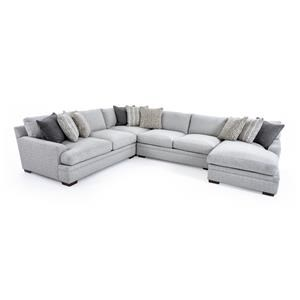 Aria Designs Vance 4 Pc Sectional Sofa
