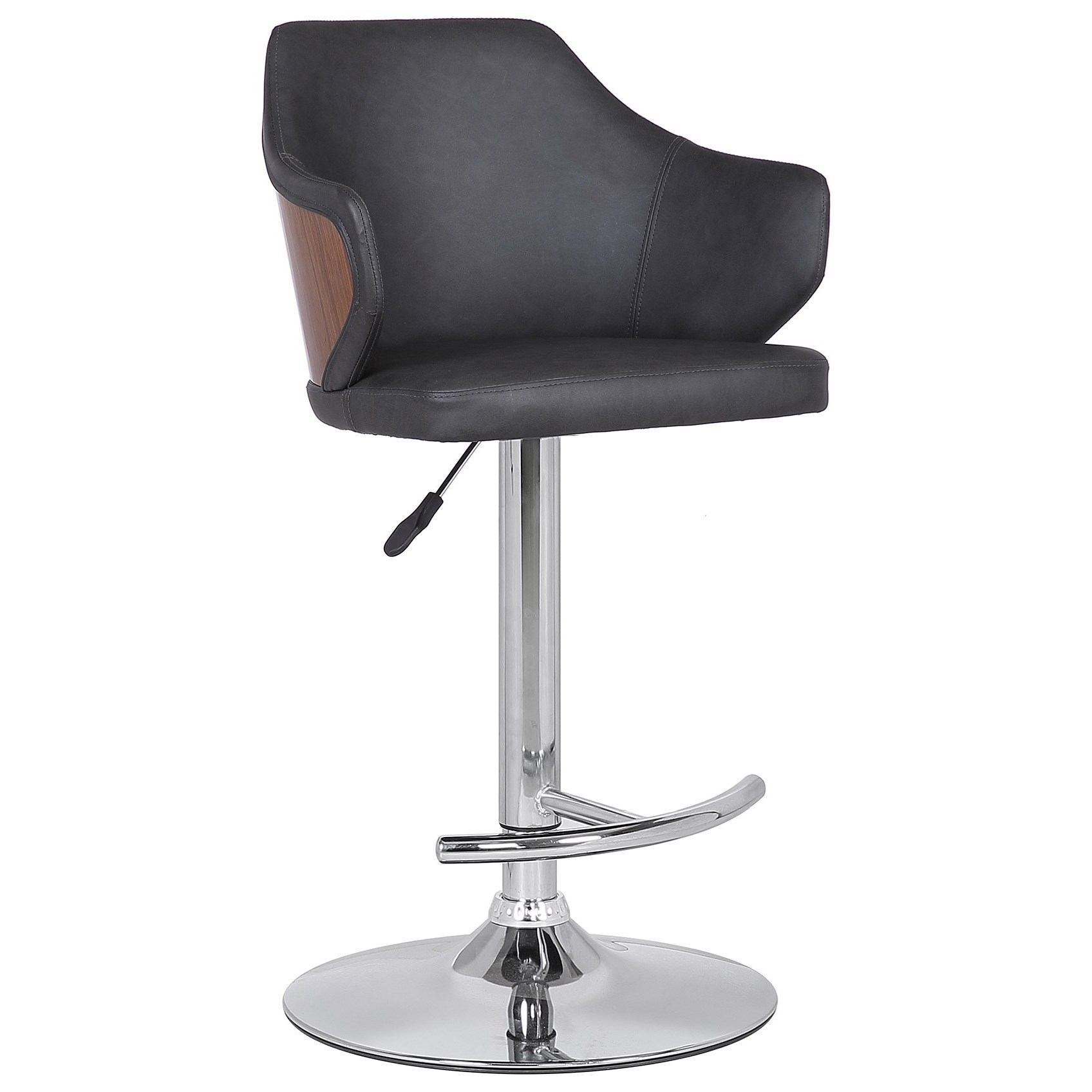 Aaron Mid-Century Adjustable Barstool by Armen Living at Dream Home Interiors