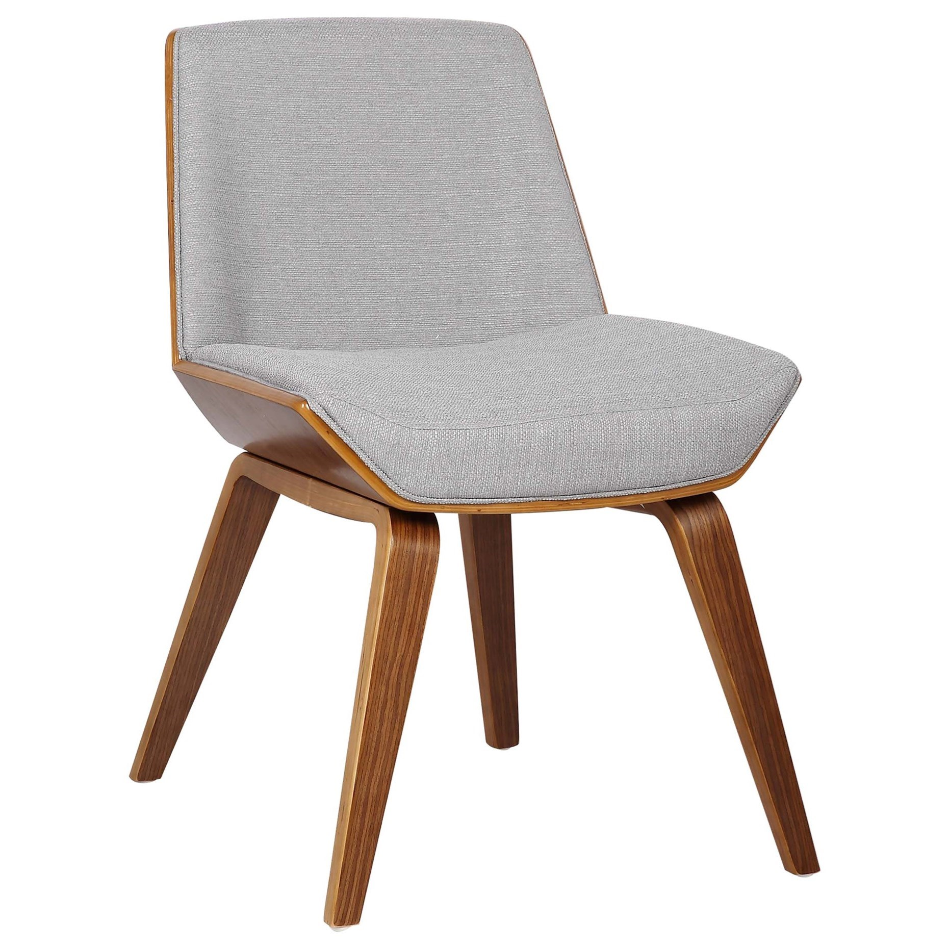 Agi Mid-Century Dining Chair in Walnut Wood by Armen Living at Fisher Home Furnishings