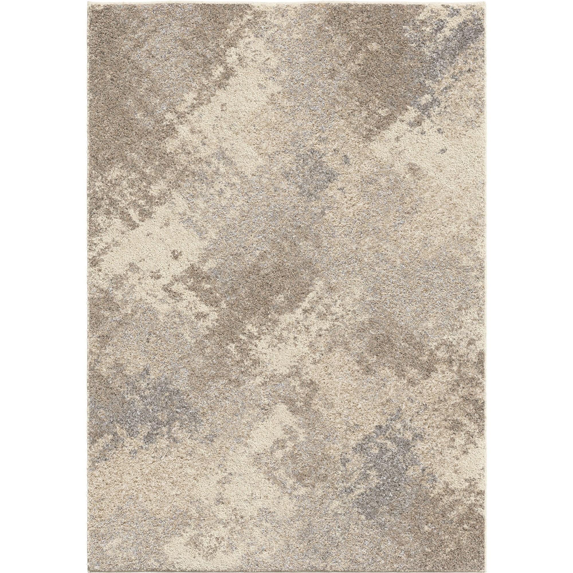 Contemporary 8x10 Area Rug in Cream/Grey