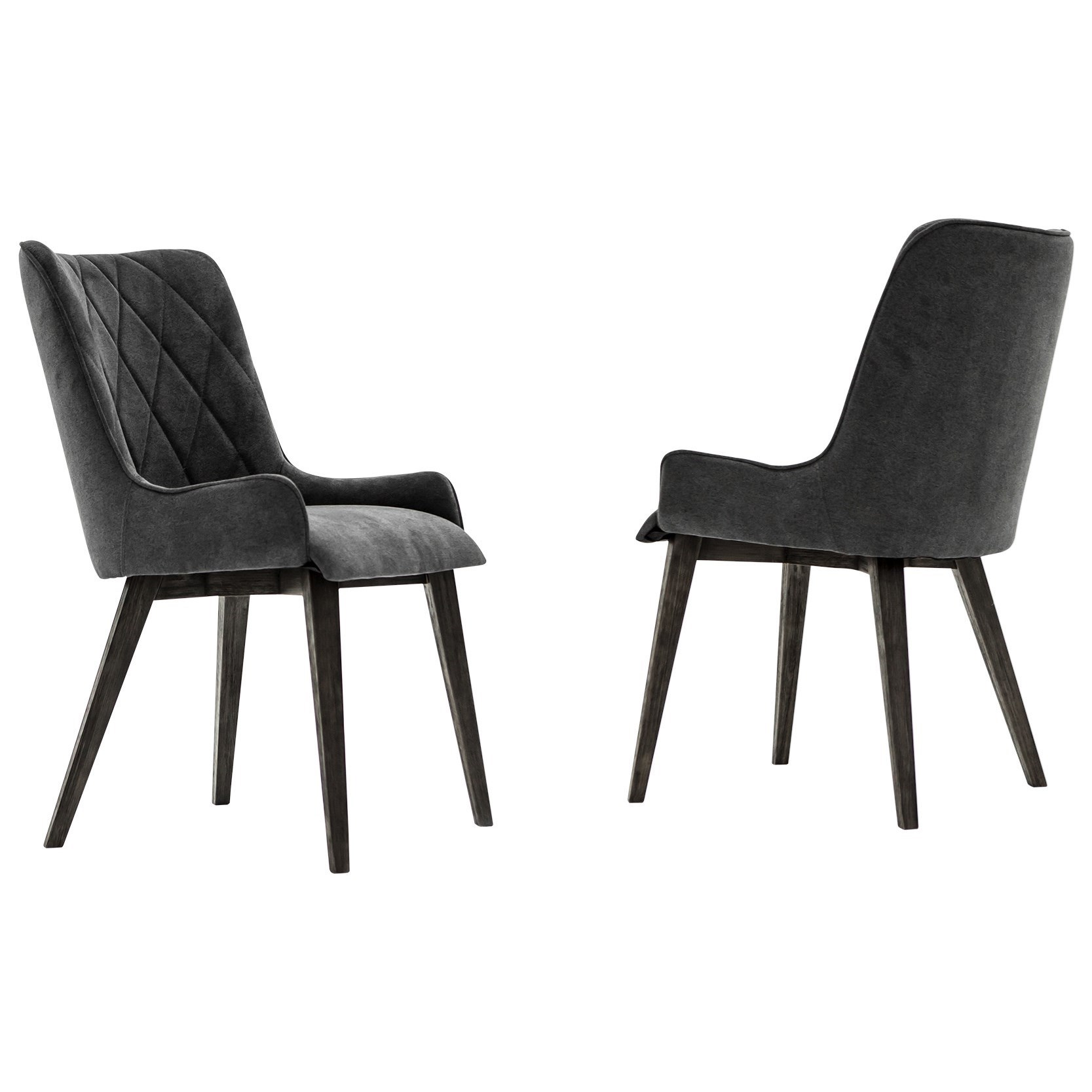 Charcoal Upholstered Dining Chair Set