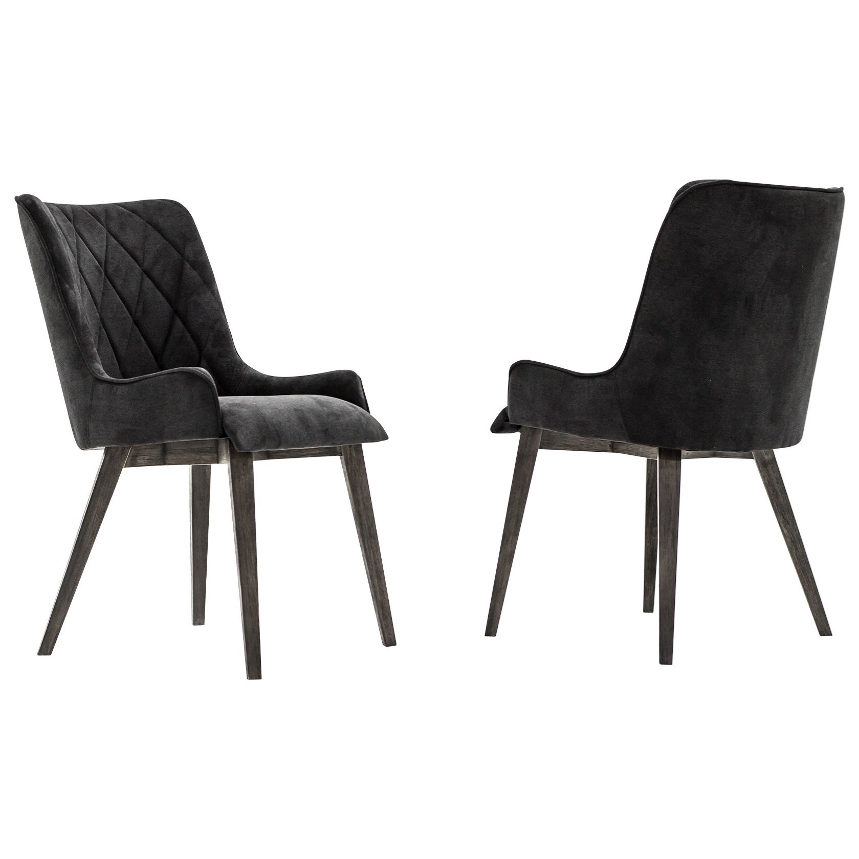 Alana Midnight Upholstered Dining Chair Set by Armen Living at Fisher Home Furnishings