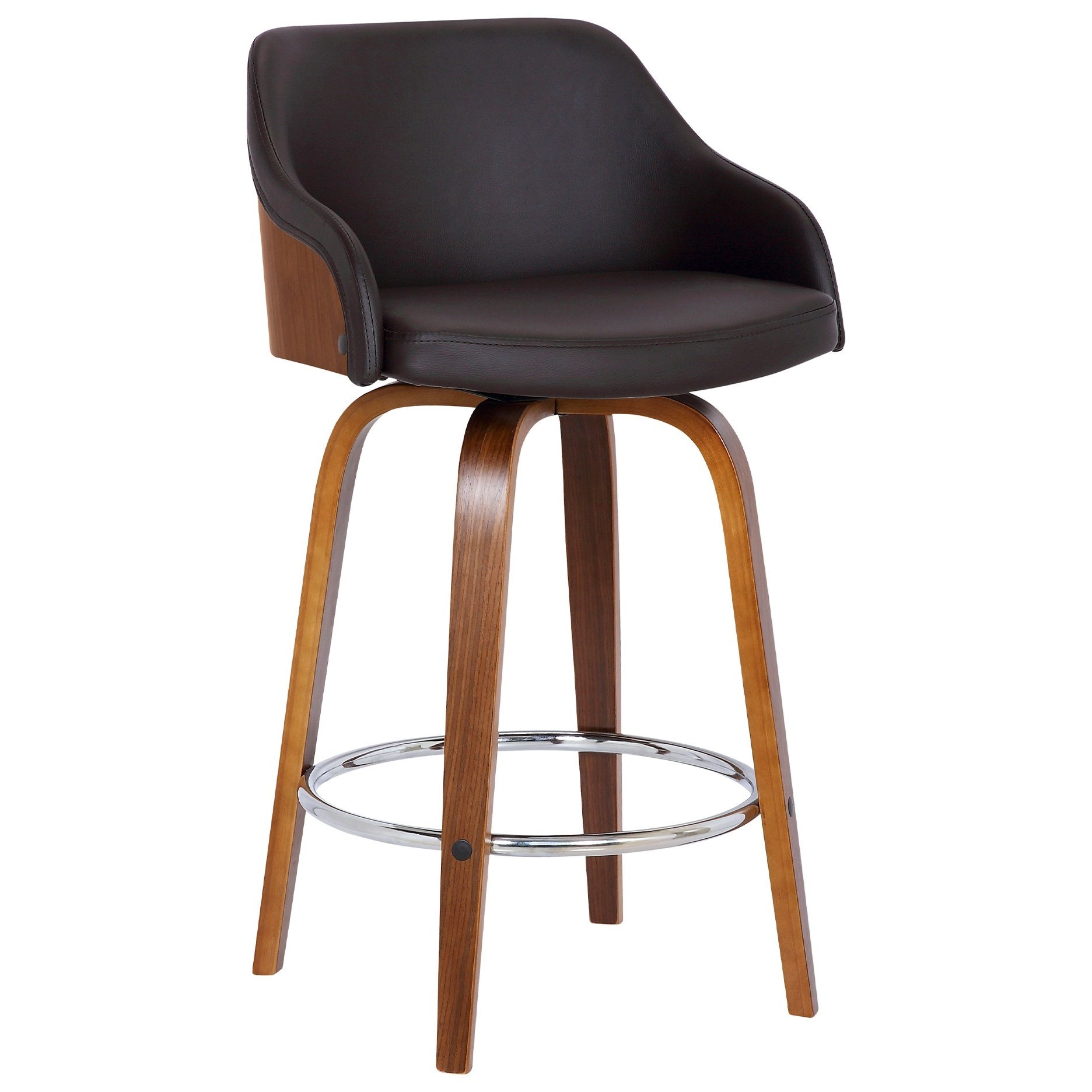 "Alec Contemporary 26"" Counter Height Swivel Stool by Armen Living at Fisher Home Furnishings"