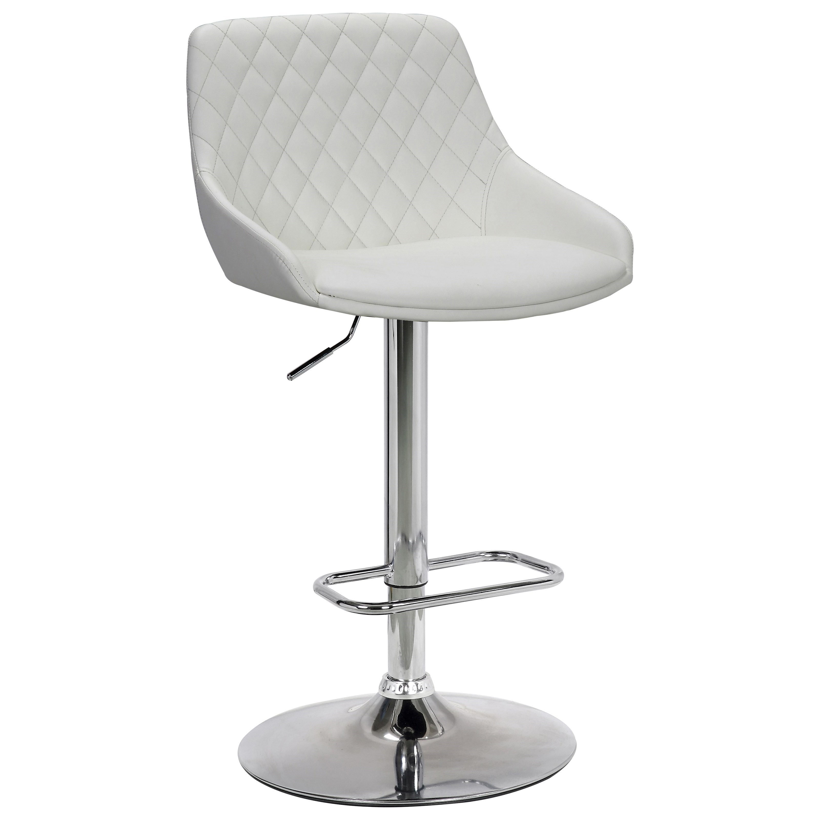 Anibal Contemporary Adjustable Barstool in Chrome by Armen Living at Fisher Home Furnishings