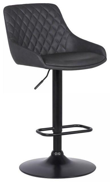 Adjustable Black Barstool