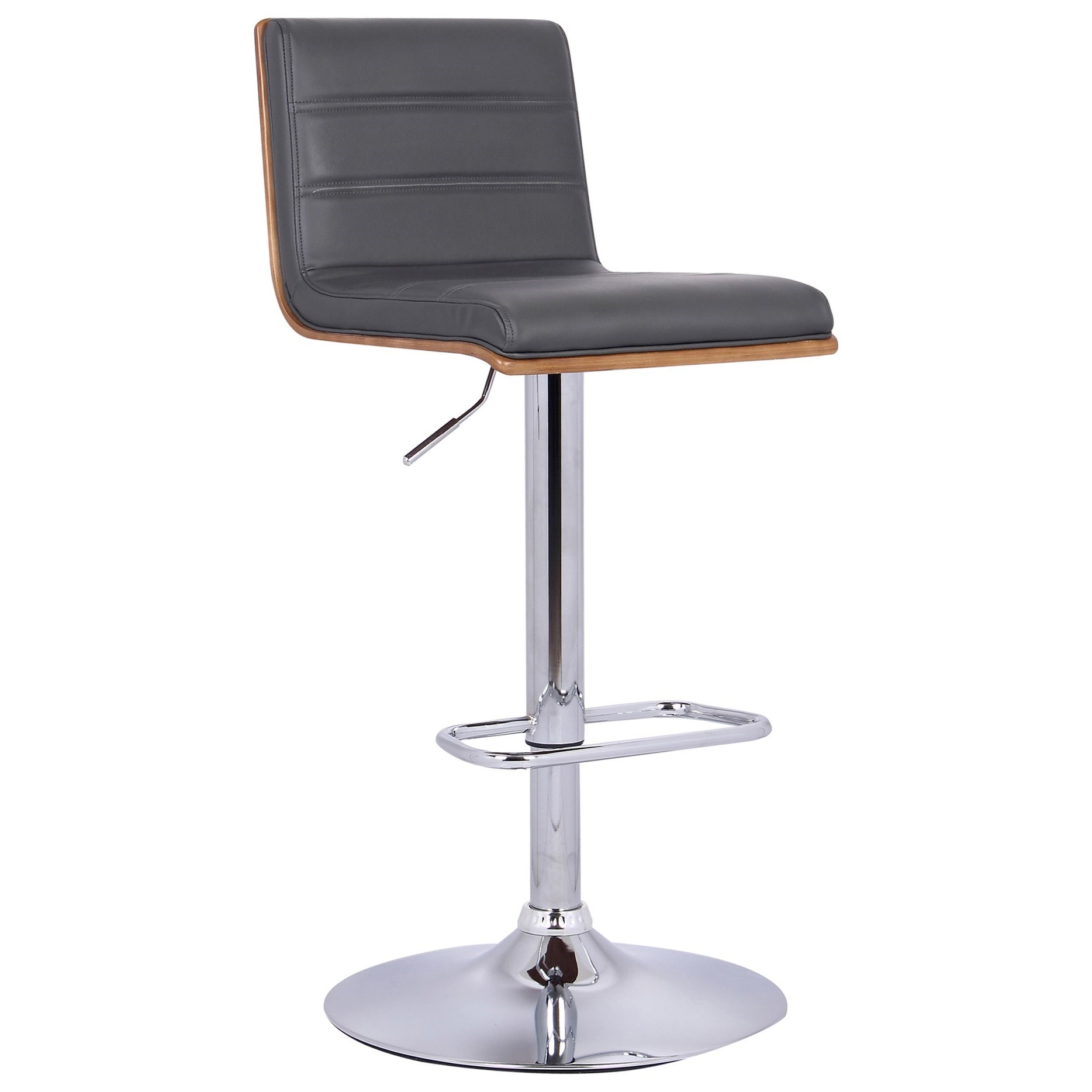 Aubrey Adjustable Swivel Barstool by Armen Living at Fisher Home Furnishings