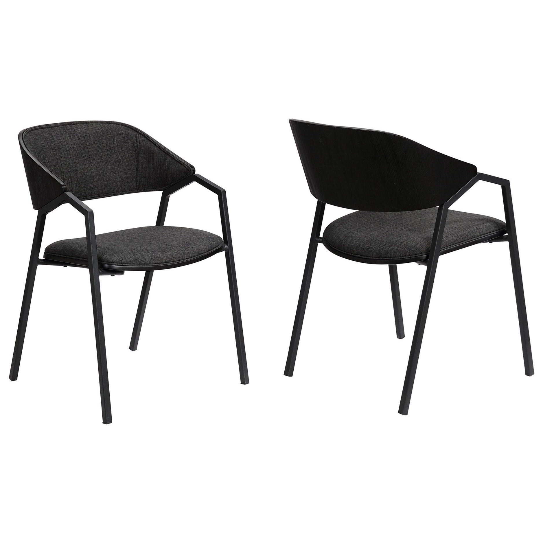 Charcoal Modern Dining Accent Chairs Set