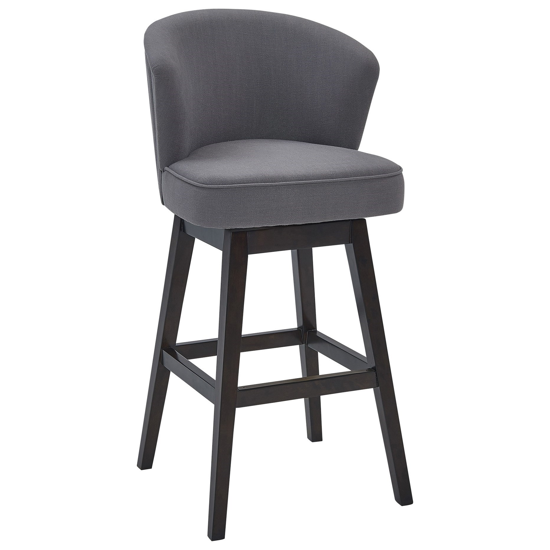 "30"" Bar Height Wood Swivel Barstool"