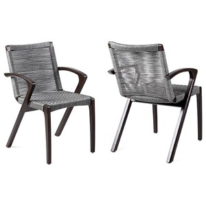 Outdoor Patio Dining Chair - Set of 2