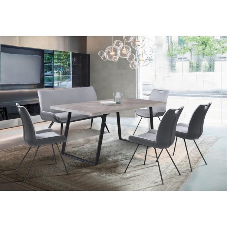 Coronado 6-Piece Table and Chair Set with Bench by Armen Living at Darvin Furniture