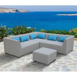 4-Piece Outdoor Textilene Sectional Set