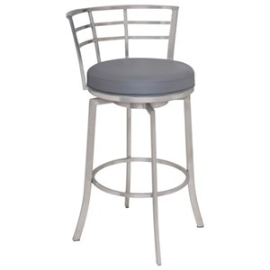 "Armen Living Viper 30"" Bar Height Swivel Barstool"