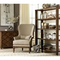 A.R.T. Furniture Inc  Logan  Exposed Wood-Back Accent Chair in Arroyo Finish
