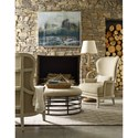 A.R.T. Furniture Inc  Logan  Exposed Wood-Back Accent Chair in Canvas Finish