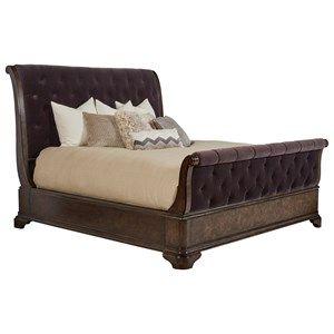 Cal King Upholstered Sleigh Bed