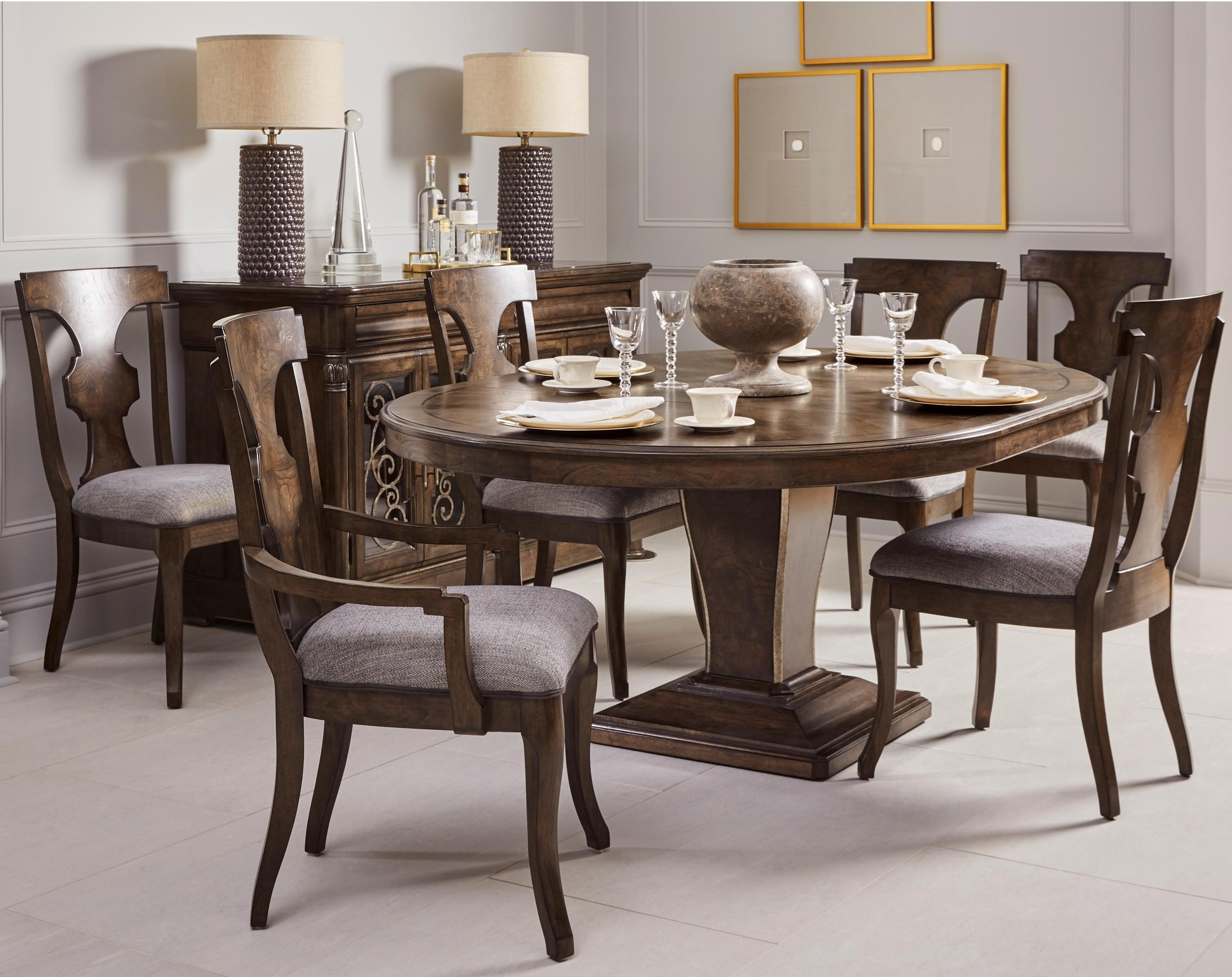 Landmark 7-Piece Oval Table and Chair Set by A.R.T. Furniture Inc at Dream Home Interiors