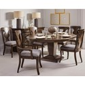 A.R.T. Furniture Inc Landmark 7-Piece Oval Table and Chair Set - Item Number: 256225-2316+2x256203+4x256202