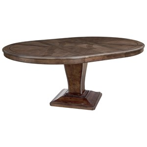 Lexington Oyster Bay 714 875c Calerton Round Dining Table With Extension Leaf Hudson S Furniture Dining Tables