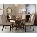 Compositions 280 - Kingsport  Five Piece Chair & Table Set - Item Number: 280225-2603+4x280200