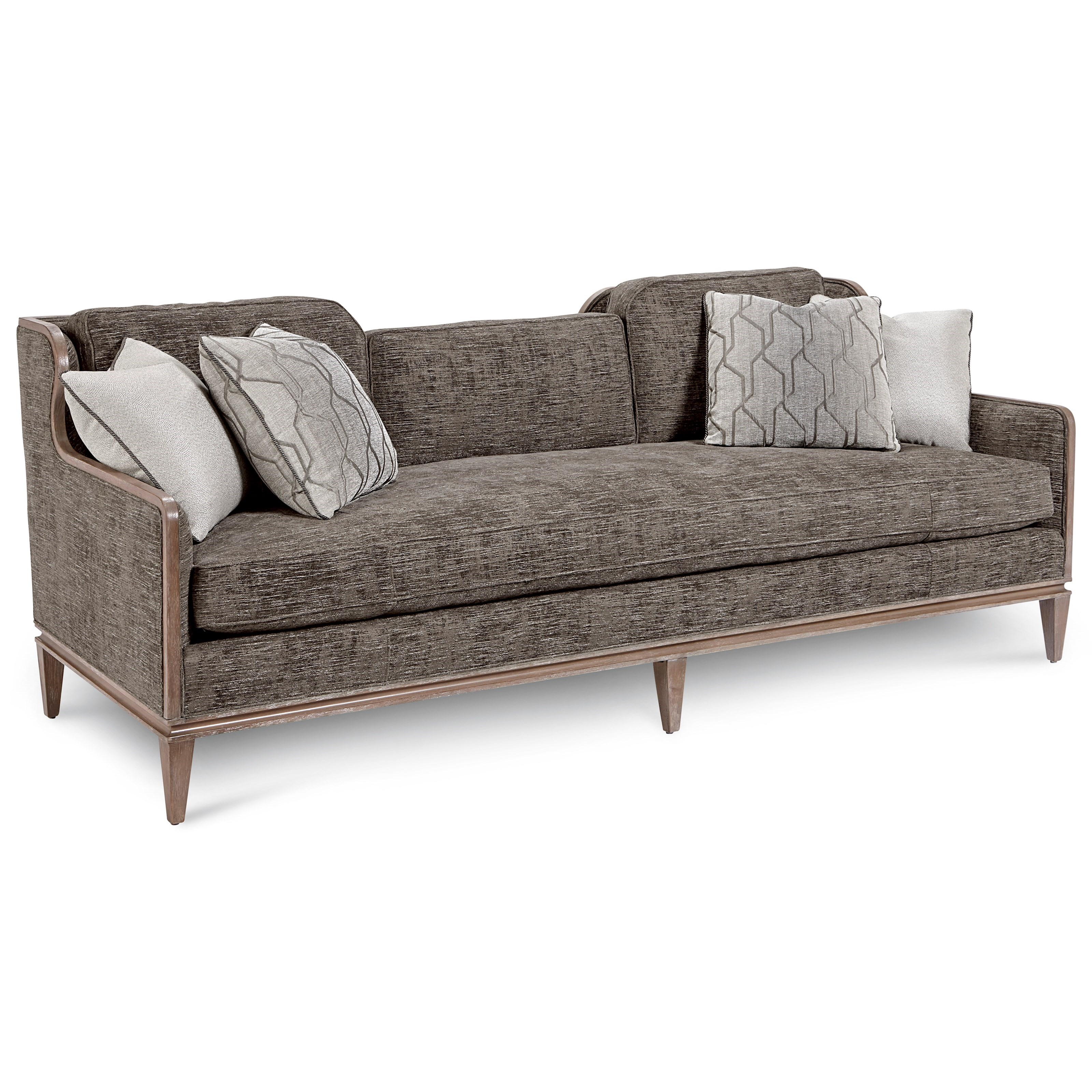 Fontaine Graphite Scoop Back Sofa