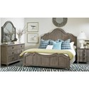A.R.T. Furniture Inc Allie Solid Pine Queen Panel Bed in Weathered Gray Finish