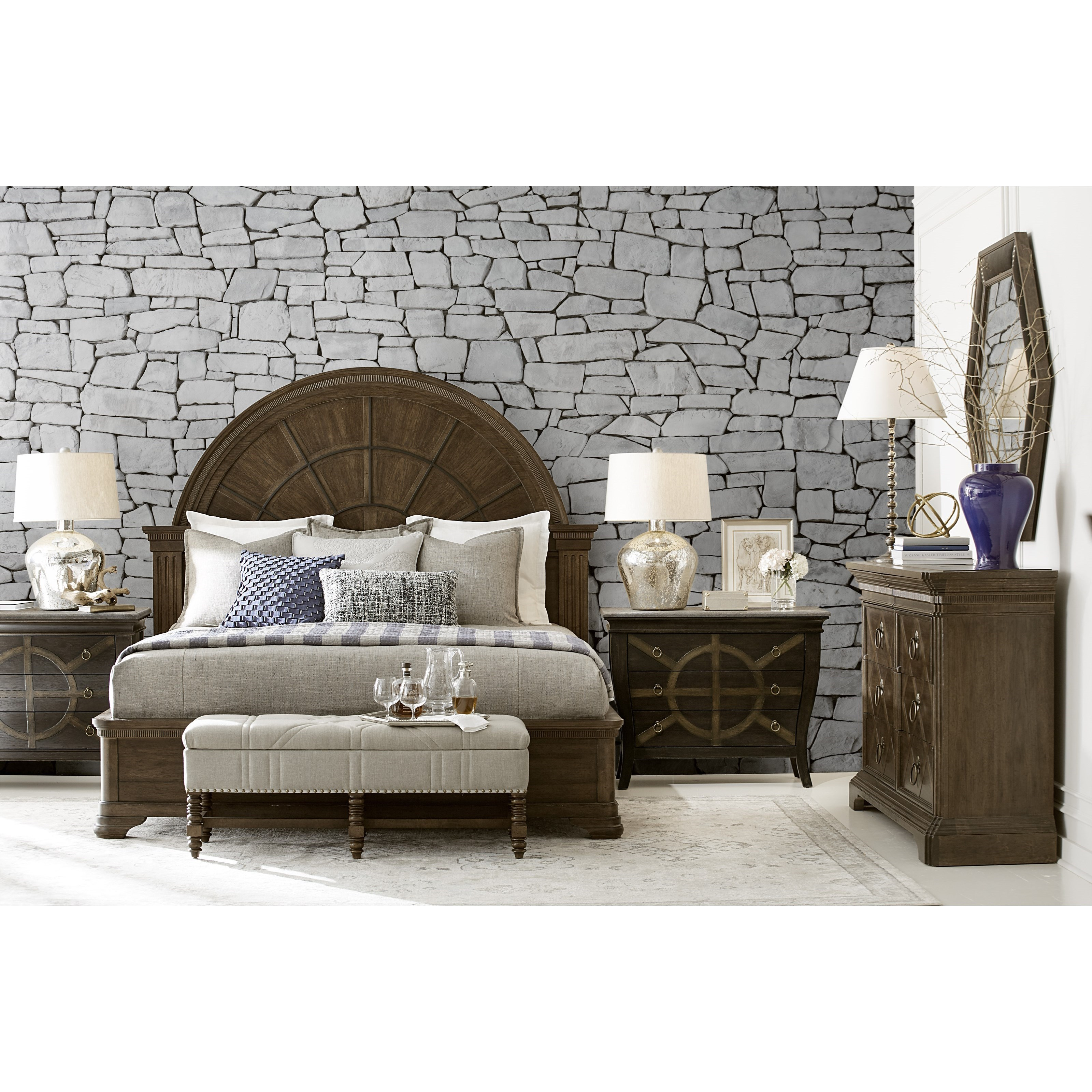American Chapter King Bedroom Group by A.R.T. Furniture Inc at Home Collections Furniture