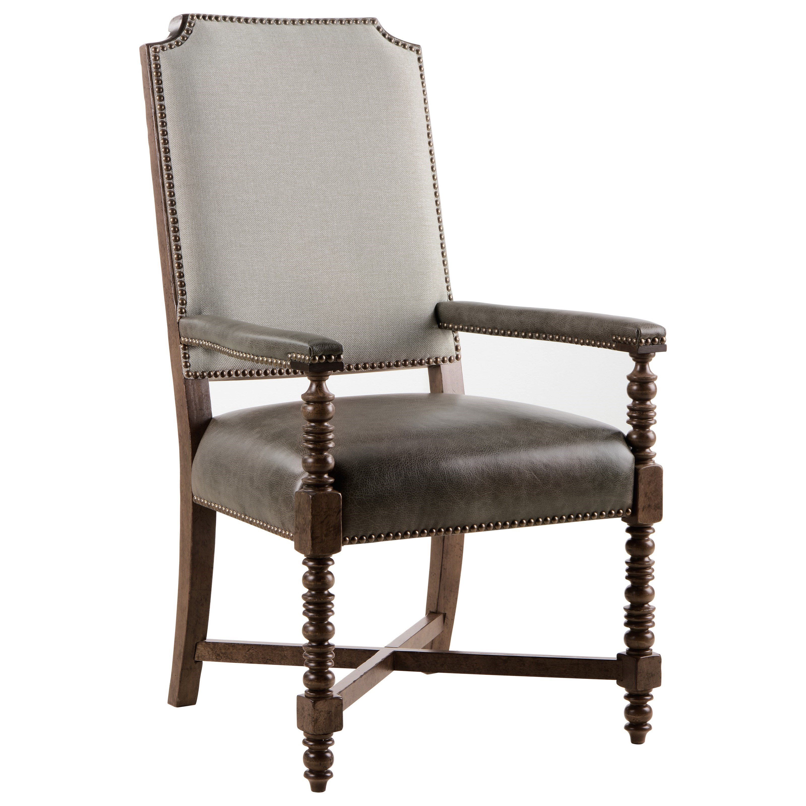 American Chapter Distiller's Upholstered Back Arm Chair by A.R.T. Furniture Inc at Home Collections Furniture