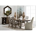 A.R.T. Furniture Inc American Chapter 7-Piece Live Edge Dining Table Set