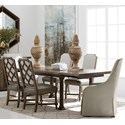 The Great Outdoors American Chapter 7-Piece Live Edge Dining Table Set - Item Number: 247220-2940+2x247200-2912+4x247206
