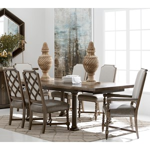 A.R.T. Furniture Inc American Chapter 7 Piece Live Edge Dining Table Set