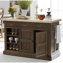 A.R.T. Furniture Inc American Chapter Makers Island Bar with Solid Maple Butcher Block Top