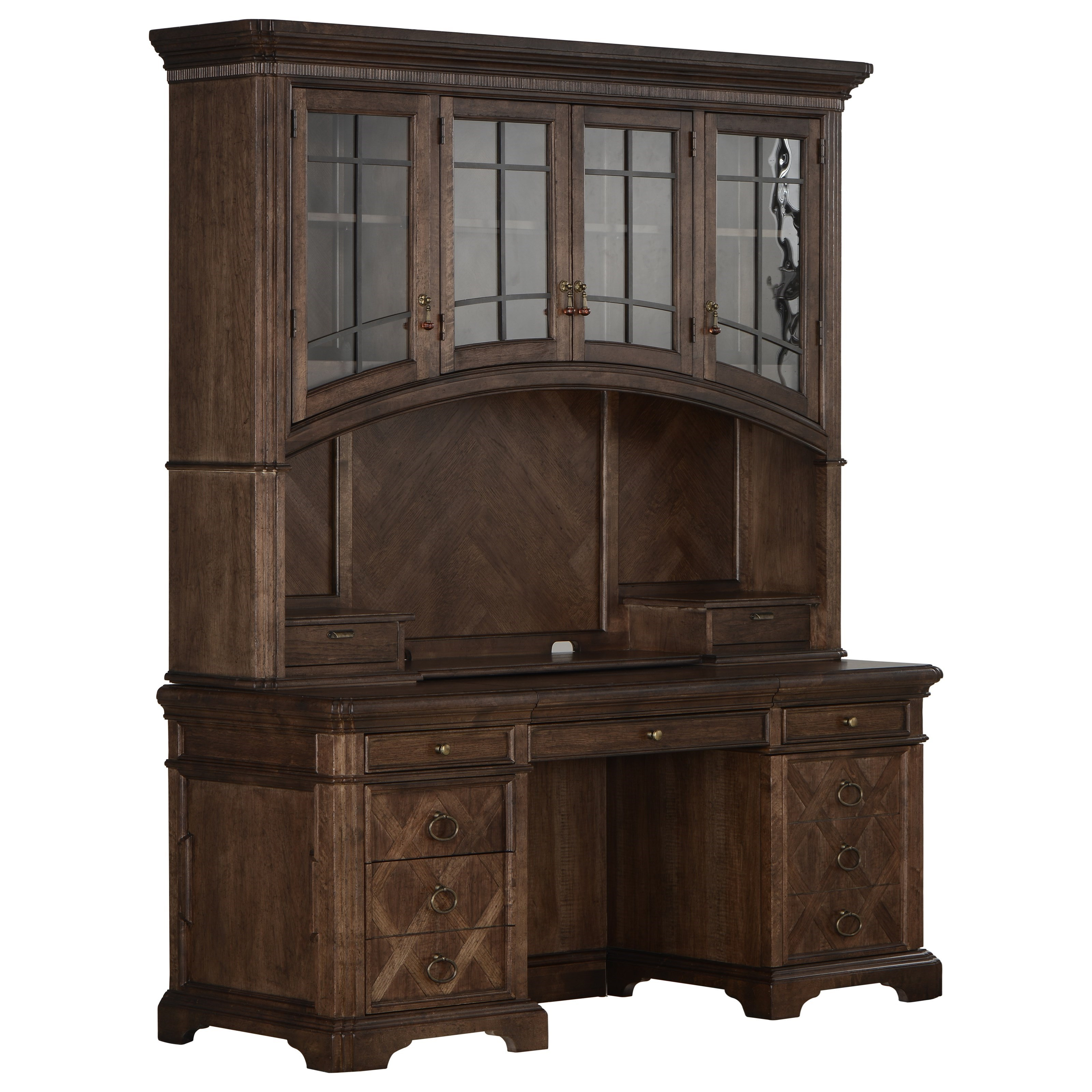American Chapter Colonel's Credenza & Hutch by A.R.T. Furniture Inc at Home Collections Furniture