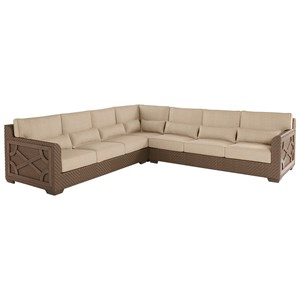 3-Piece Florence Wicker Sectional