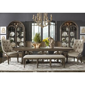 7-Piece Pearce Dining Table Set with Bench