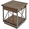 Compositions Vintage Salvage  Burton End Table - Item Number: 231364-2812