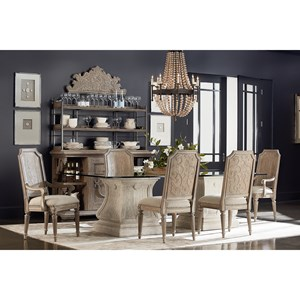 Markor Furniture Arch Salvage Formal Dining Room Group