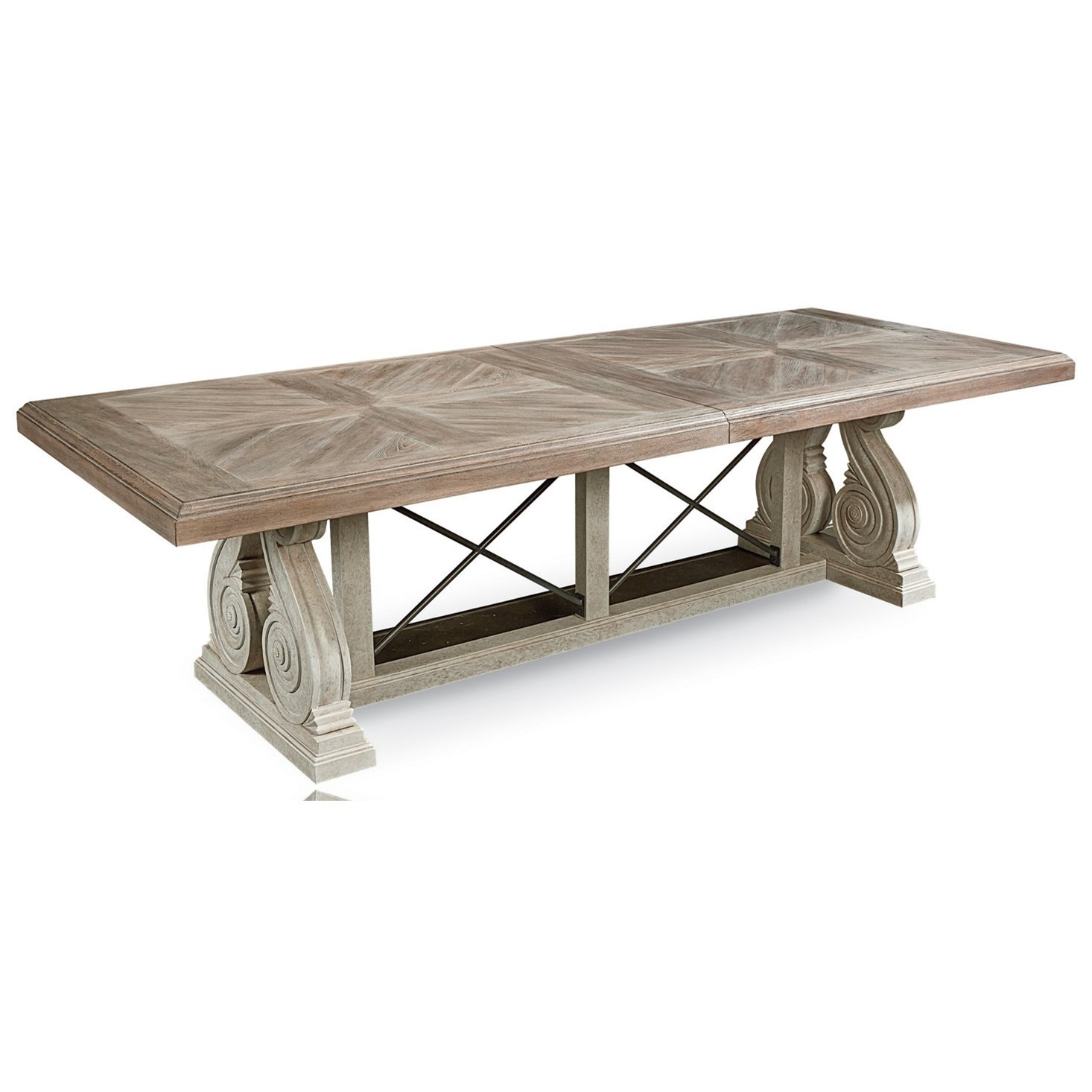 Arch Salvage Pearce Dining Table by A.R.T. Furniture Inc at Baer's Furniture