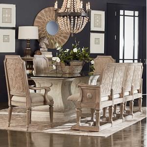 Markor Furniture Arch Salvage 6-Piece Rectangular Dining Table Set