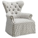 A.R.T. Furniture Inc Ava Tufted Back Skirted Wing Chair - Item Number: 513539-5001AA