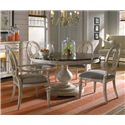 A.R.T. Furniture Inc Belmar II 5-Piece Round Dining Table Set - 189225-2617BS+TP+2x189205+2x189204