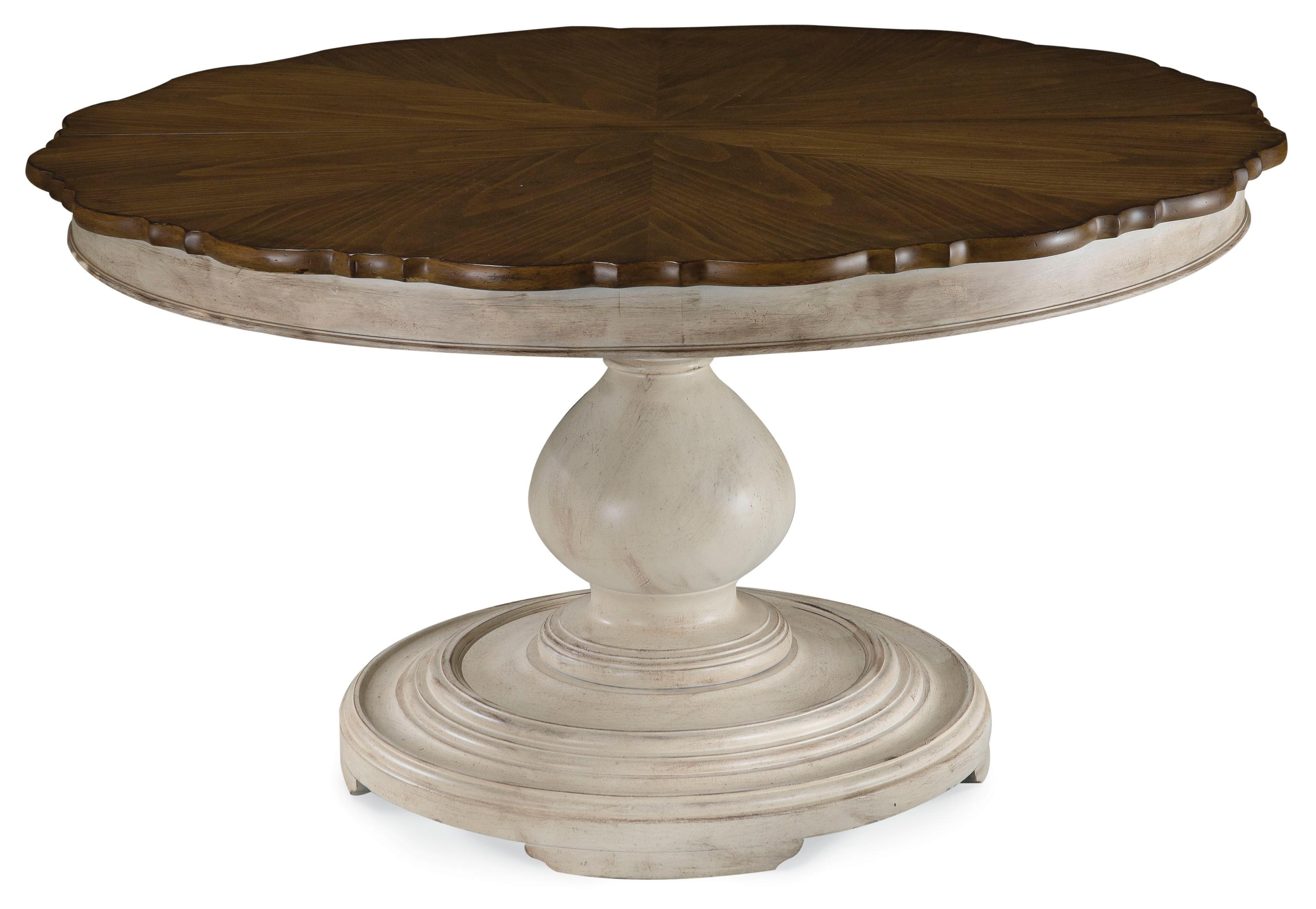 Belfort Signature Farrington Round Dining Table Top and Base - Item Number: 189225-2617BS+2624TP