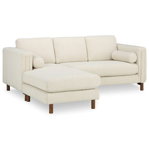 Bi-Sectional Sofa 84in & Ottoman
