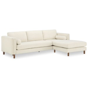 Bi-Sectional Sofa 103in & Ottoman