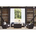 The Great Outdoors Brannon Outdoor Outdoor Conversation Set - Item Number: 929460+501+514+516+2x343-4215