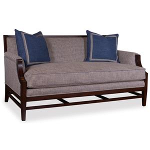 A.R.T. Furniture Inc Bristol Settee with Stretcher Base