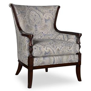 A.R.T. Furniture Inc Bristol Carved Wood Accent Chair
